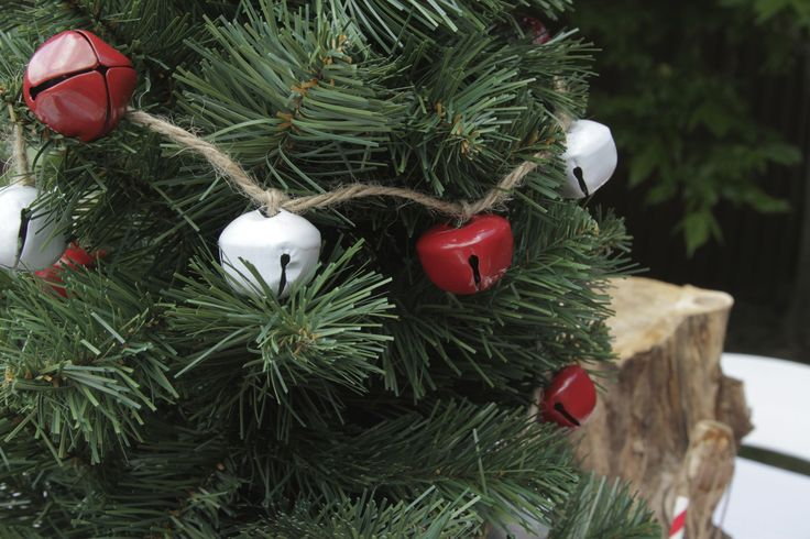 Gorgeous White and Red Bell Garland...they even sound like Christmas! | The Paper Lantern |