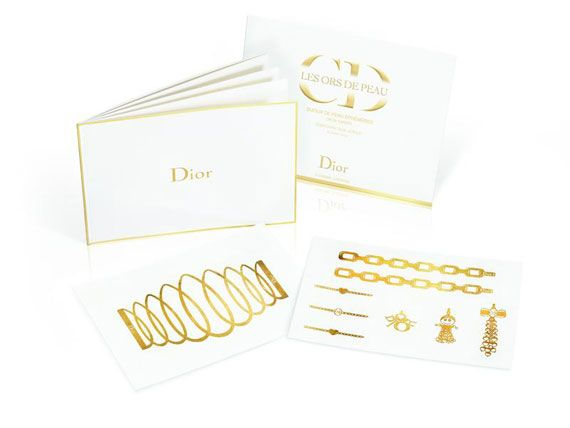Dior Releases 24-Carat Temporary Tattoos