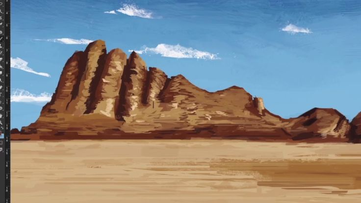 Digital Landscape Painting - Photoshop TImelapse   #art #painting #drawing #illustration #cool #design #photoshop #youtube