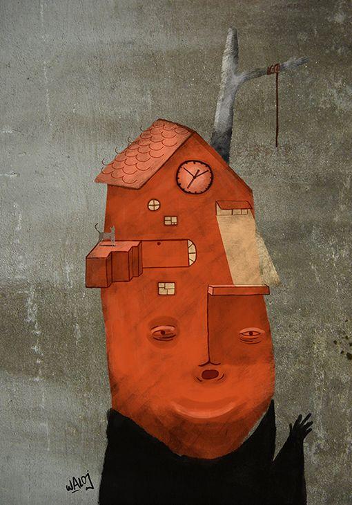 Face N1 by Walo Jiménez, via Behance