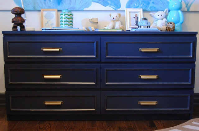 Ikea malm dresser royal blue new hardware ikea for Malm kommode weiay