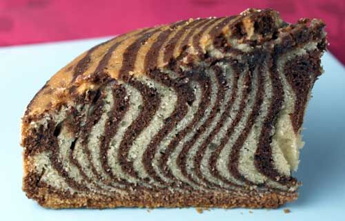 How cool...Zebra cake