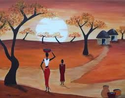 Les 25 meilleures images du tableau peinture africaines - Dessin paysage africain ...