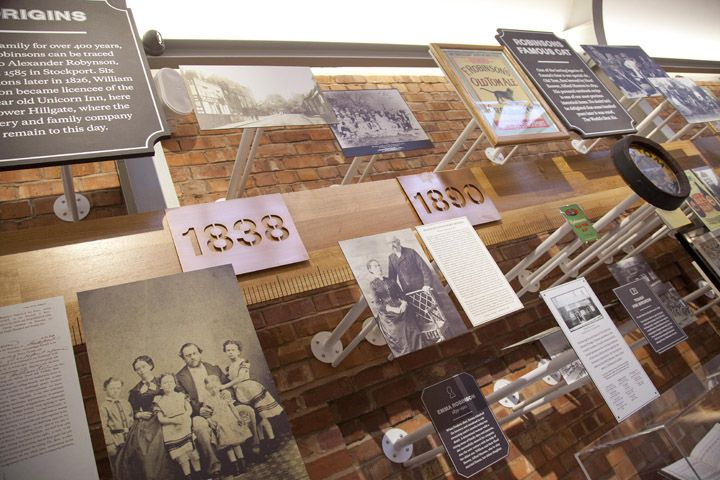 Robinsons Brewery visitor centre by Urban Salon Stockport UK