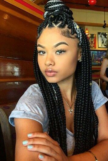 Brilliant 1000 Images About Wanna Do Hairstyles On Pinterest Box Braids Short Hairstyles Gunalazisus