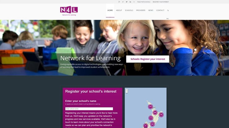 Screenshot from Network for Learning (N4L) website (www.n4l.co.nz)