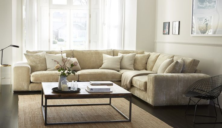 With all the stylish features of the standard version, such as piping and fluting on the sides and back, the Epping Corner Sofa is an incredibly comfortable and spacious design. From its wide, plump seat cushions to its chunky arms, this fabric sofa is full of modern flair and luxurious comfort. There are a variety of custom options available for this modular sofa including contrast piping, a choice of light or dark stain on the wooden block feet, additional feather-filled scatter cushions…