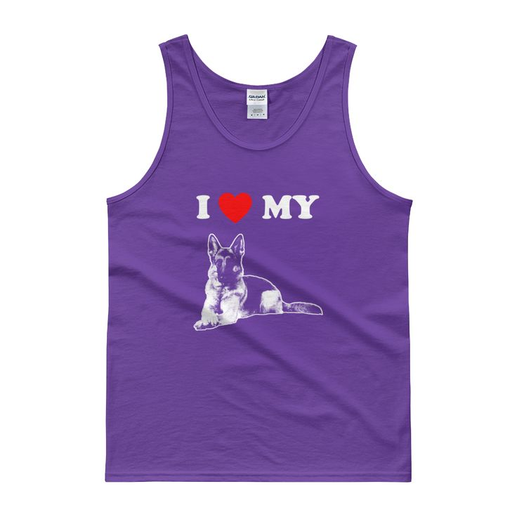 I Love My German Shepherd - Men's Tank Top