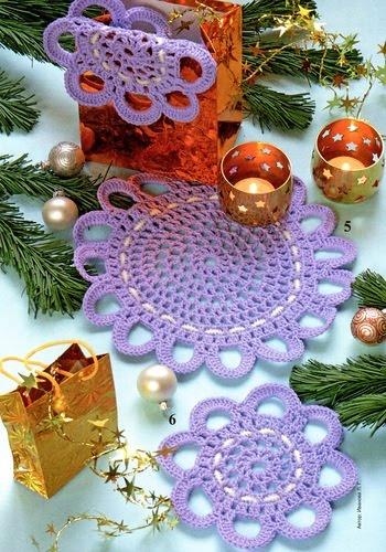 Edivana Croche: Crochet Medalions And, Crochet Fun, Crochet Crochet, Crochet Doily, Crochet Deco, 1 Colored Crochet