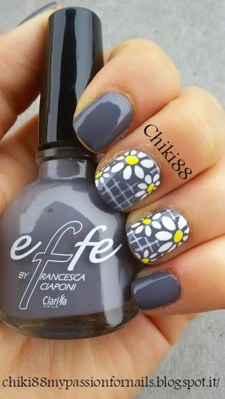 CHIKI88...  my passion for nails!: The nails of the week: Nail art floreale - collabo...