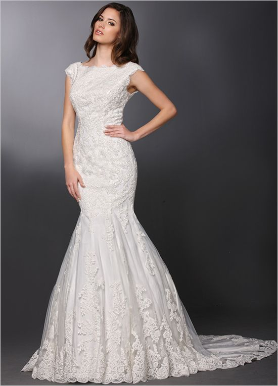 cap sleeve wedding gown from DaVinci Bridal #davincibridal #weddinggown #weddingchicks http://www.weddingchicks.com/2014/03/18/davinci-bridal-gowns-2014/