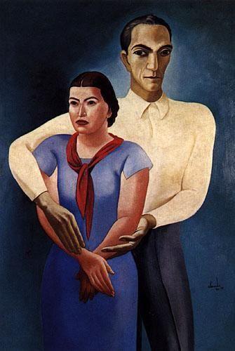 Duplo Auto-Retrato (Almada e Sarah Afonso,sua mulher ) 1934/36, óleo sobre tela, Centro de Arte Moderna da Fundação Calouste Gulbenkian, Lisboa,