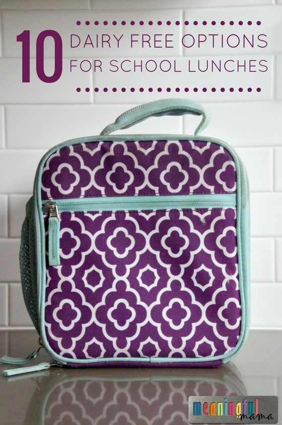 10 Dairy Free Options for Packing School Lunches - #ad #BacktoSchool…
