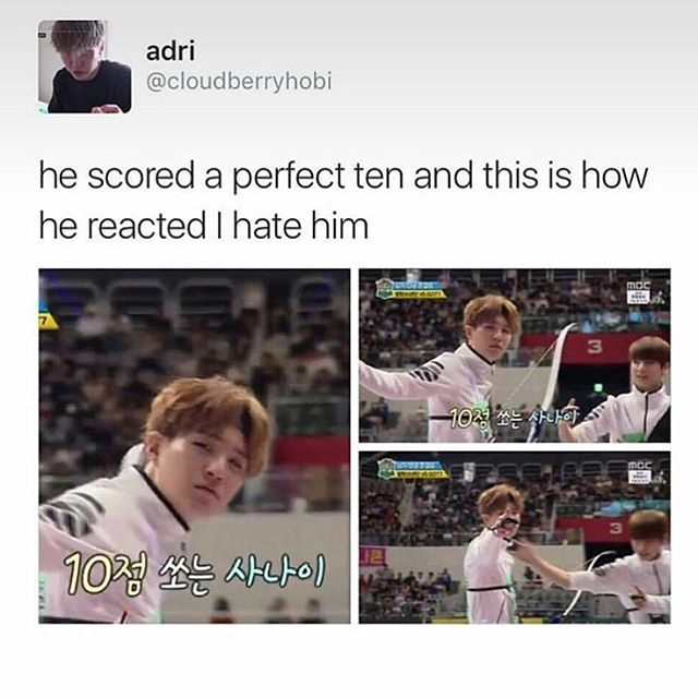 I lov-.. *cough* Uh.. I hate him too.. Yeah! Wooo! ❤ #BTS #방탄소년단