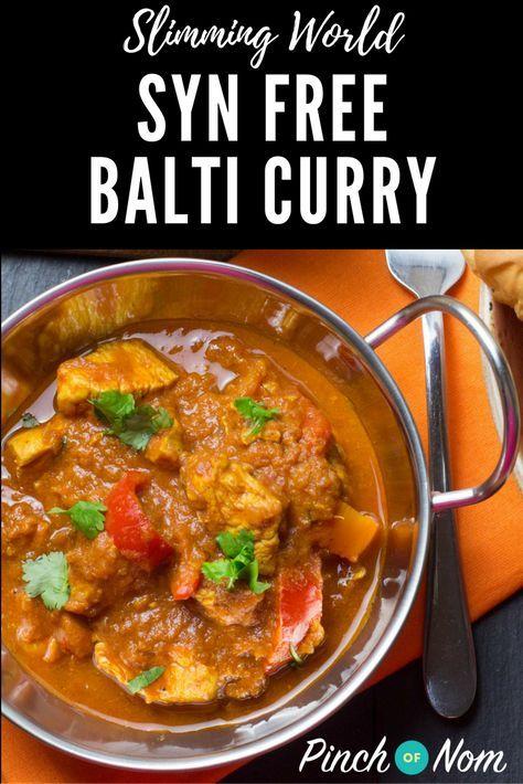 Syn Free Curry Balti   Slimming World Recipes - pinchofnom.com