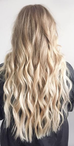blonde babylights on long hair | Hair Color | Hair color ...