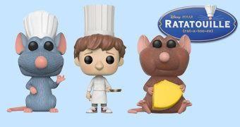 Bonecos Pop! do Filme Ratatouille (Pixar)