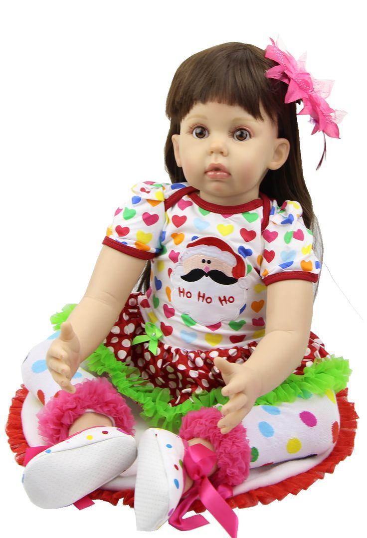 Новый Год Подарок Для Ребенка 29 Дюймов Силиконовые Игрушки Baby Doll Reborn Реальная Жизнь Кукла Кукла Ручной Работы Мода Принцесса Рождественский Подарок