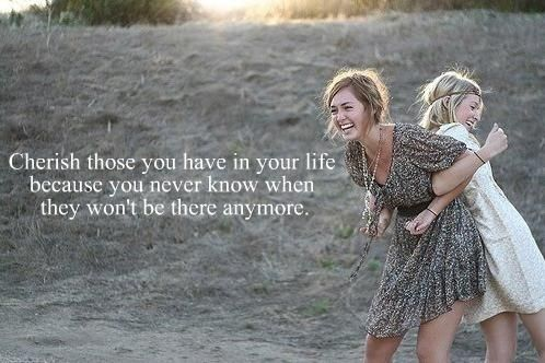 Cherish those you have in your life. #sisters