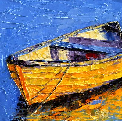 Leslie Saeta .... one of her many boat paintings