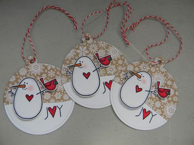 Joy Tags by Marcia Hill - Paper Smooches - Warm Hearts