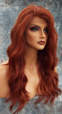 LACE FRONT LACE HEAT FRIENDLY SEXY WAVY RED  WIG *130* USA SELLER 351