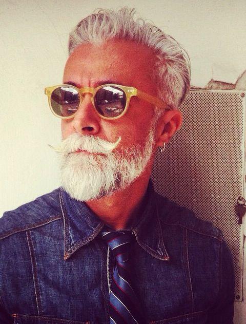 Alessandro Manfredini, Fashionisto, Gray Haired Silver Fox.