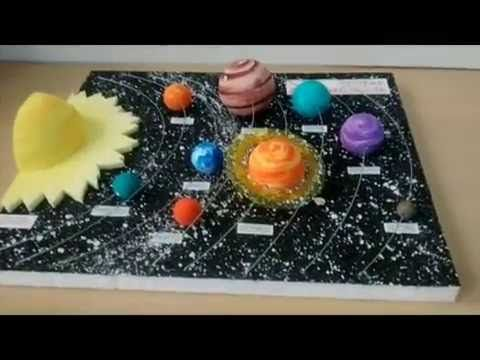 como hacer una maqueta del sistema solar (How to make the solar system) - YouTube