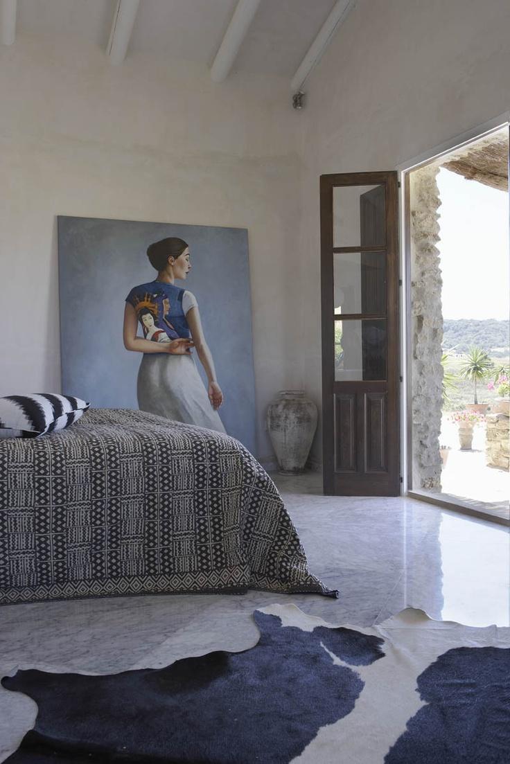 (Finca Naranja hotel in Ronda) sypialnia, obraz