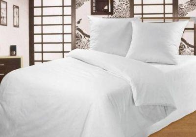 Абсолютно белое постельное белье без рисунка
