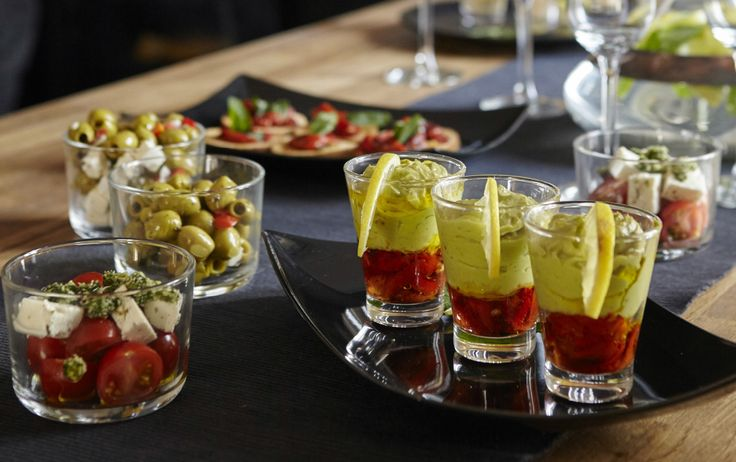 Recipe. Entertaining ideas: Guacamole Glasses are a tasty choice for a selection of party canapés