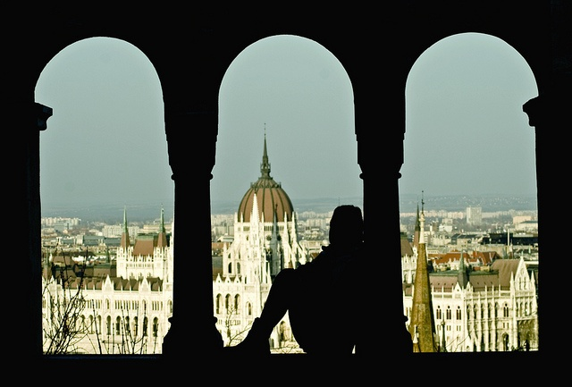 View of the Hungarian Parliament Building from the Fishermen's Bastion / Budapest, Hungary    More photos @ https://www.facebook.com/pankphoto