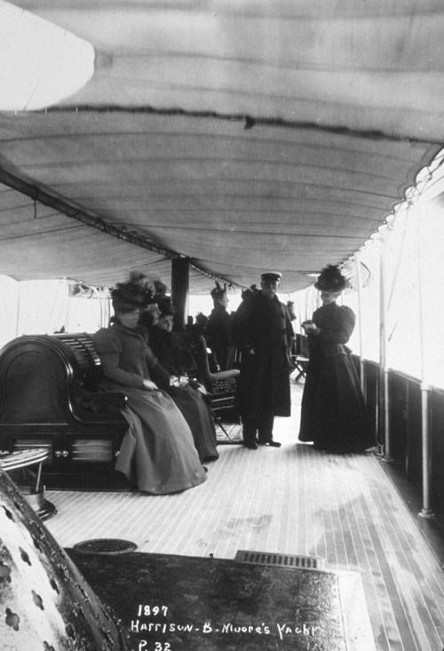 Members of the NJ State Federation of Women's Clubs on Harrison B. Moore's yacht, 1897