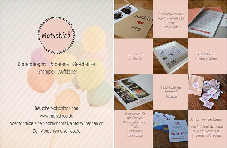 Kartendesigns, Papeterie, Geschenke, Stempel, Aufkleber und vieles mehr von Motschico #Motschico #Flyer #Design #Papeterie