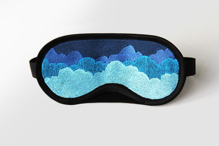 Computer assisted embroidery on fabric. The Cloud nine is a product design in between accessory and jewelry, granting a peaceful sleep moment.