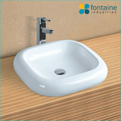 Maddox Ceramic Basin Rounded Bubble Shaped Above Counter Sink| Renovation Design Ideas Affordable | Fontaine Industries |