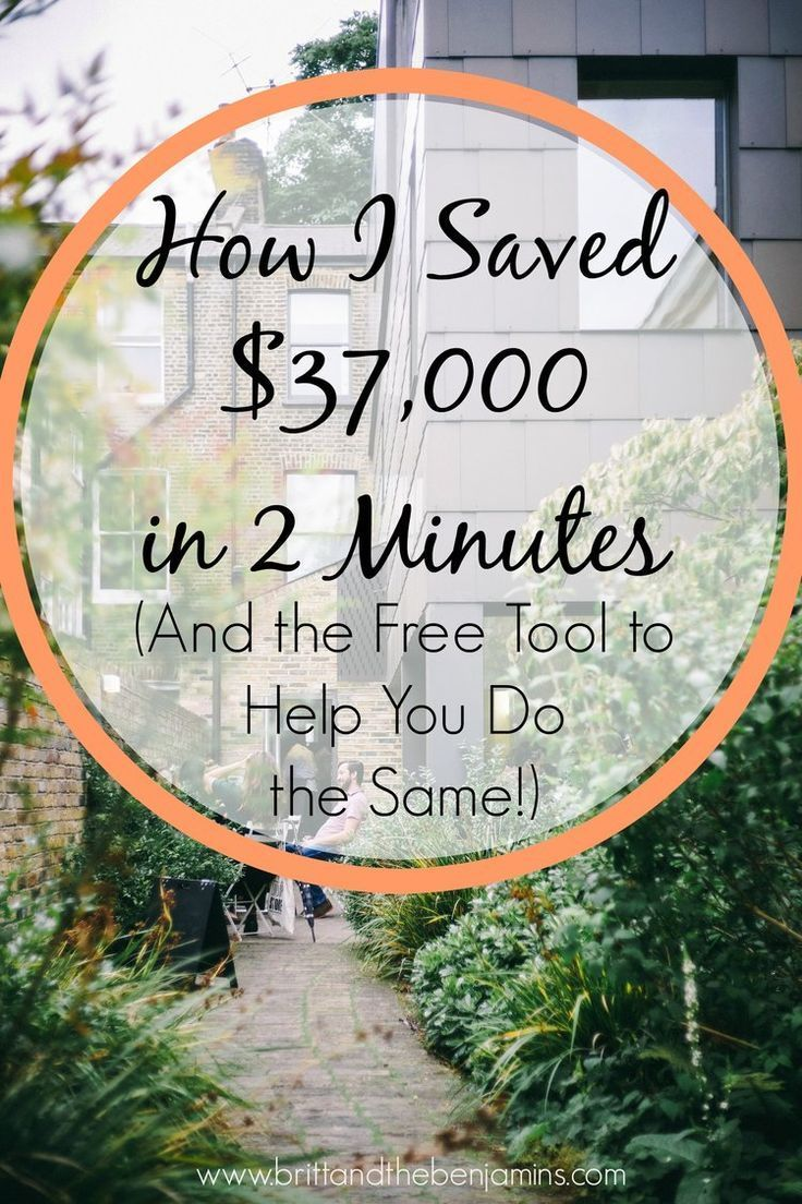 Want to save tens of thousands in the time it takes you to brush your teeth? It's simple with this one easy tool, and it can help you over and over again.  Personal Finance I Debt I Loans I Saving Money I Millennials I Buying a Home I Mortgage