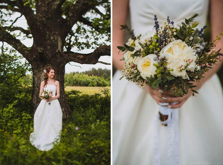 образ невеста букет прическа визаж прическа