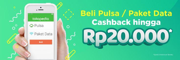 Beli Pulsa Atau Paket Data Cashback Hingga Rp 20.000 di #Tokopedia promo selengkapnya >> https://goo.gl/HCMGGY
