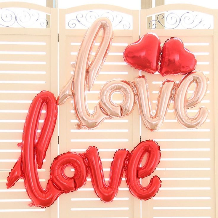Wedding Valentines Party Supplies  Love  Script Metallic Foil Balloon 108cm