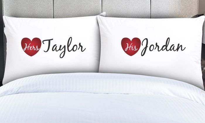 Couples' Pillowcases from Monogram Online: Couples' Pillowcases from Monogram Online