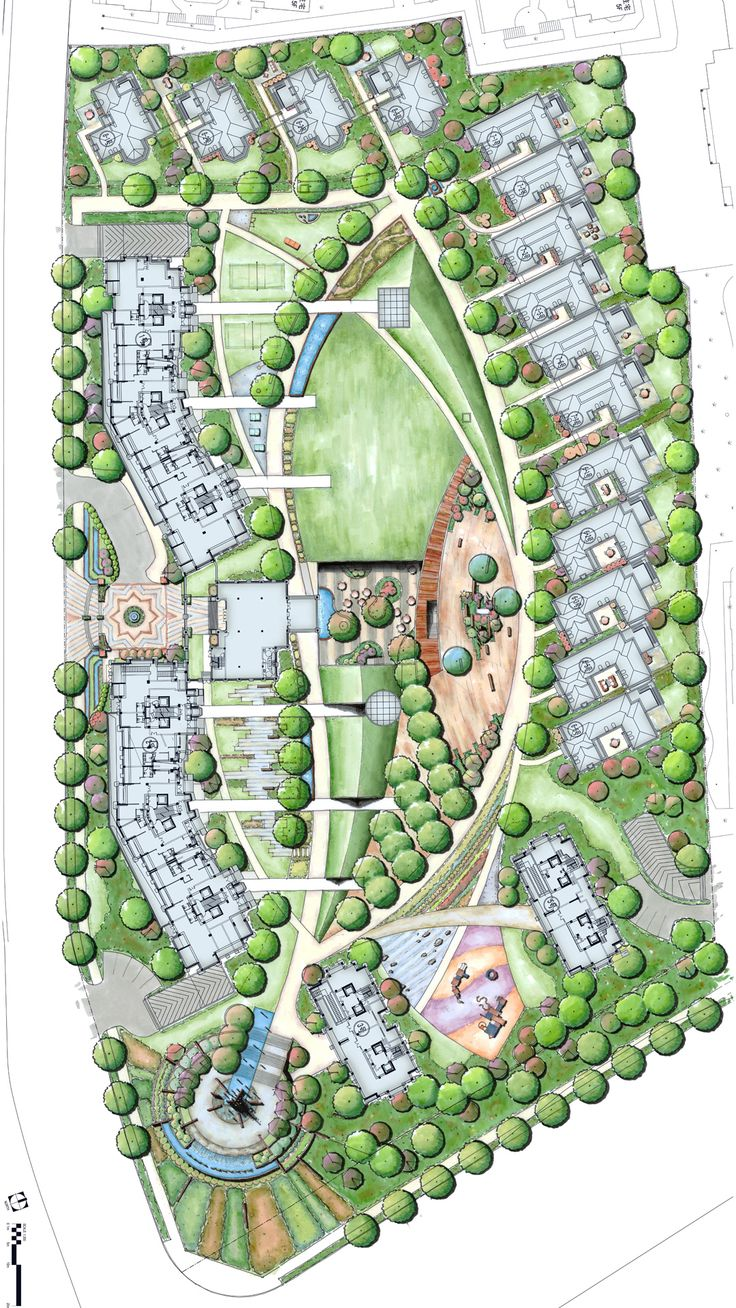 Yuyao residential site plan, showing units and open space.