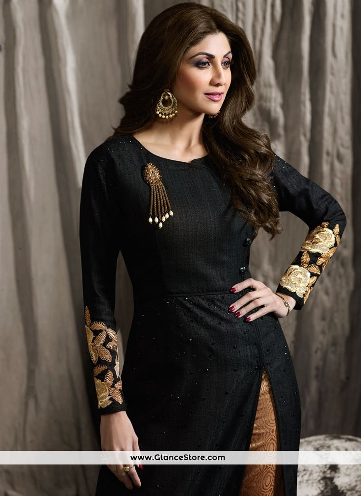 Shilpa Shetty Raw Silk Designer Suit