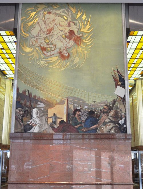 MURALS AT BANK OF AMERICA/CHARLOTTE NC: More revealing than those in the Denver airport; RIGHT IN OUR FACE! - Earthchanges College ~ Survive PX