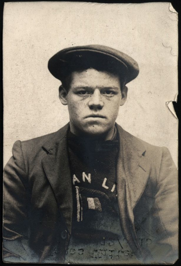 """Name: James White Arrested for: not given Arrested at: North Shields Police Station Arrested on: 13 March 1915 Tyne and Wear Archives ref: DX1388-1-258-James White  The Shields Daily News for 19 March 1915 reports:   """"THEFTS FROM TYNE SAILORS' HOME.   James White (21), a seaman, of Bishop Auckland, was charged at North Shields today with having stolen between March 5th and 6th, from a cubicle at the Tyne Sailors' Home, a quantity of clothing, provisions and other goods, valued at 30s, the…"""