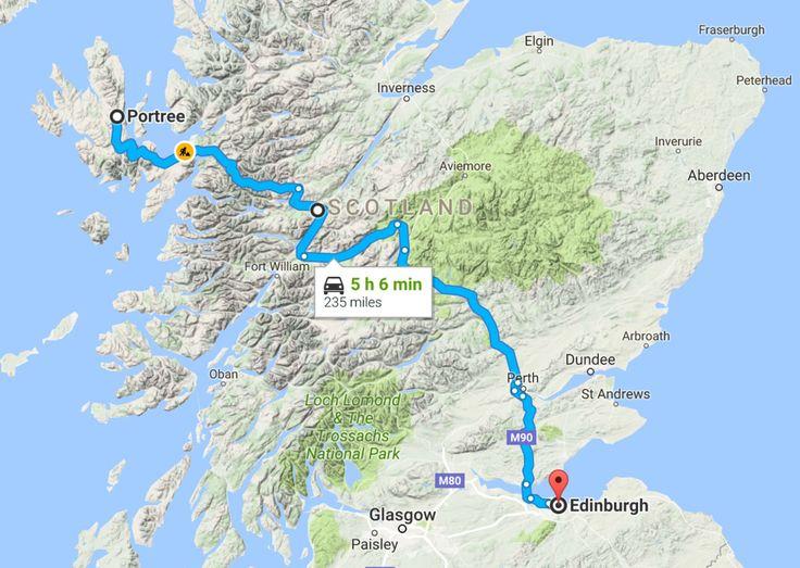 Scotland Road Trip Map