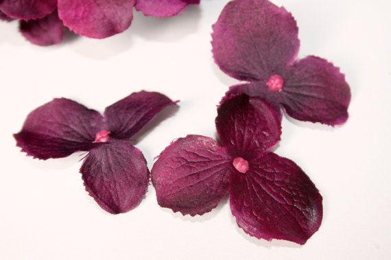 Silk Hydrangeas  OVER 30 Silk Hydrangea Blossoms in by simplyserra, $3.75