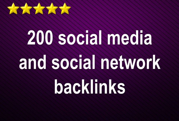 skYROCKET your website ranking with 200 social network backlinks for $5