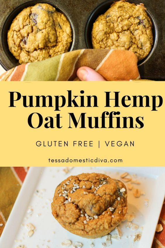 Pumpkin Oat Hemp Muffins Gluten Free Vegan Recipe Vegan