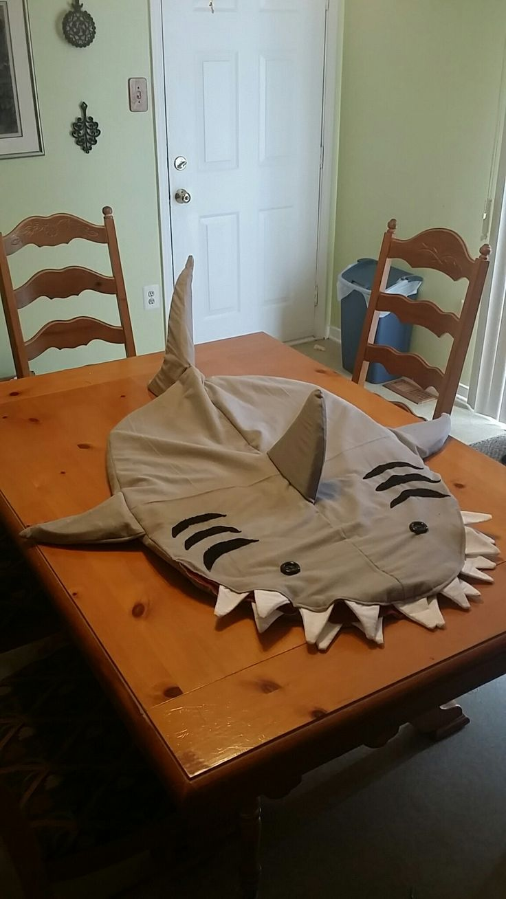 Shark sleeping bag. Toddler size.